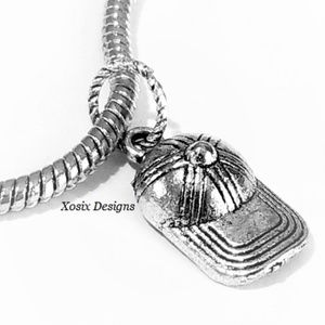 European Sports Cap Charm Bead Pendant